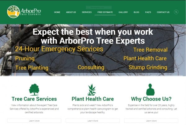 New website with information on tree care in Portland, Oregon.