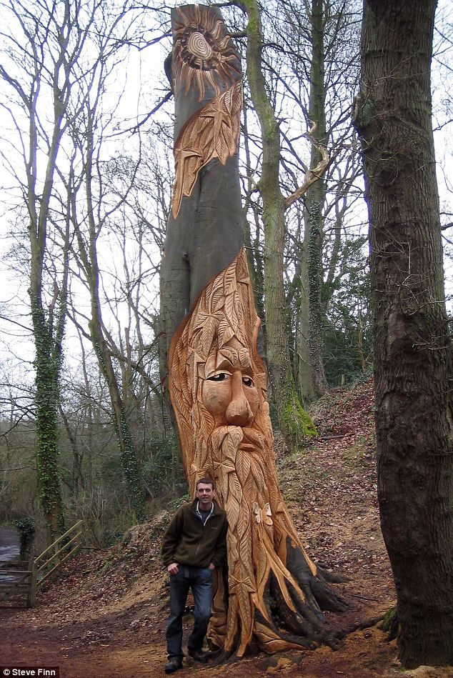 Turn a dead tree into art stump is real
